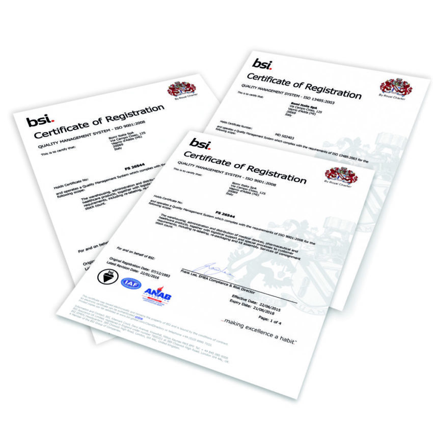 BOMI GROUP RECONFIRMS ISO 9001:2015 And ISO 13485:2016 CERTIFICATION