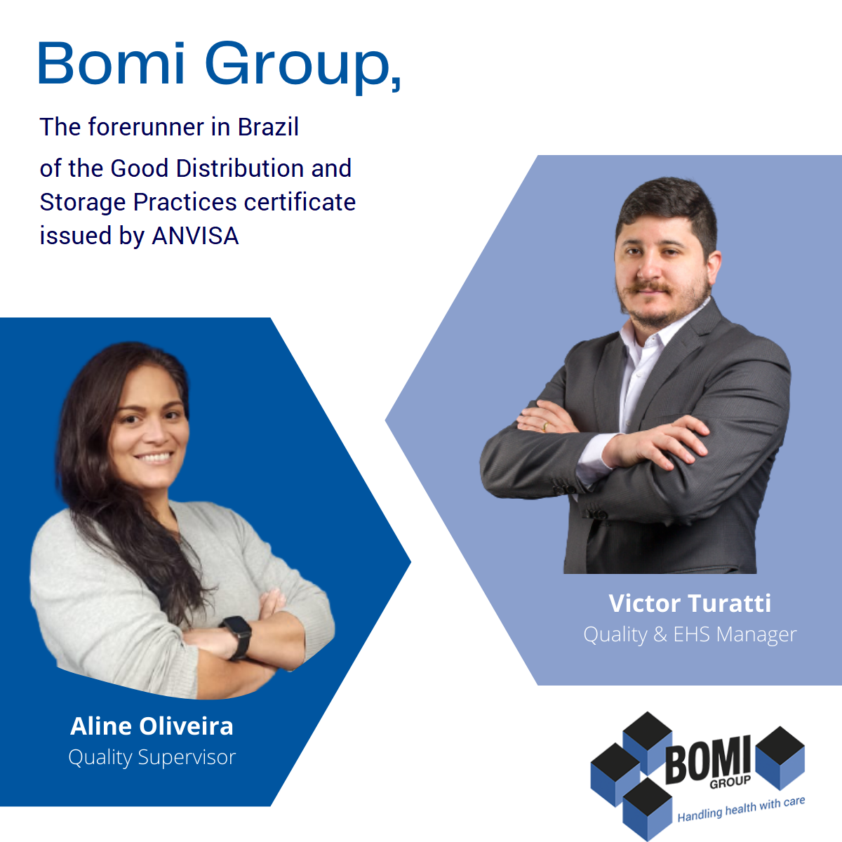BOMI GROUP In Brazil Is Honored To Maintain The Certificate Of Good Distribution And Storage Practices (CBPDA) For Healthcare Products Since 2012